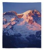 1m4876-sunset On Mt. Rainier  Fleece Blanket