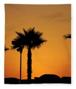 Sunset On Socal Beach Fleece Blanket