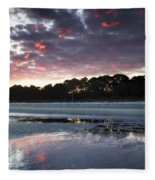 Sunset On South Forest Fleece Blanket