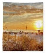 Sunset On St Pete Fleece Blanket