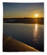 Sunset On St. Simons Island Fleece Blanket