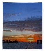 Sunset On The Bay Fleece Blanket