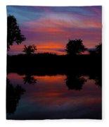 Sunset On The Bladnoch Fleece Blanket