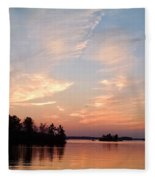 Sunset On The Chippewa Fleece Blanket