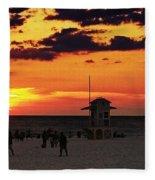 Sunset On The Clearwater Beach Fleece Blanket
