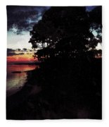 Sunset On The Ocean Fleece Blanket