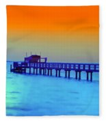 Sunset On The Pier Fleece Blanket