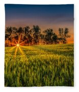 Sunset On The Prairie Fleece Blanket