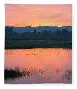 Sunset On The Refuge Fleece Blanket