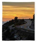 Sunset On The Road Fleece Blanket