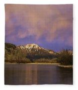 Sunset On The Snake River Fleece Blanket