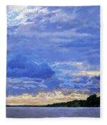 Sunset On The Volga. Gorodets Fleece Blanket