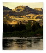 Sunset On The Yellowstone Fleece Blanket