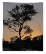 Sunset - Out In The Country Fleece Blanket