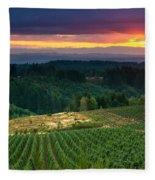 Sunset Over Central Oregon 4 Fleece Blanket