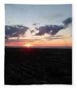Sunset Over Cleveland Fleece Blanket