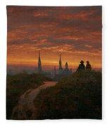Sunset Over Dresden Fleece Blanket