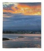 Sunset Over Hilo Fleece Blanket