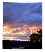 Sunset Over Kalamalka Fleece Blanket