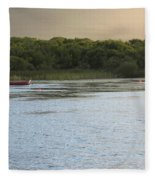 Sunset Over Killarney Fleece Blanket