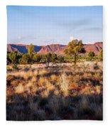 Sun Setting Over Kings Canyon - Northern Territory, Australia Fleece Blanket