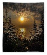 Sunrise Over Lake Huron Fleece Blanket