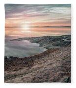 Sunset Over Lake Vanern, Sweden Fleece Blanket
