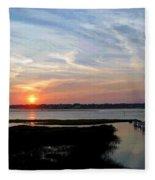 Sunset Over Murrells Inlet II Fleece Blanket