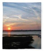 Sunset Over Murrells Inlet Fleece Blanket