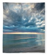 Sunset Over Naples Beach Fleece Blanket
