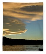 Sunset Over South Island Of New Zealand Fleece Blanket