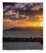 Sunset Over St. Thomas Fleece Blanket