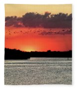 Sunset Over Tampa Bay 2 Fleece Blanket