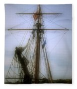 Sunset Over The Amistad Fleece Blanket