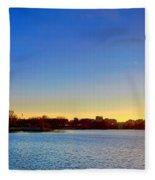 Sunset Over The Jefferson Memorial  Fleece Blanket