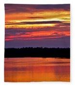 Sunset Over The Tomoka Fleece Blanket