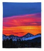 Sunset Over Torreys And Grays Peaks Fleece Blanket