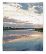 Sunset Over Union Bay Tall Panorama Fleece Blanket