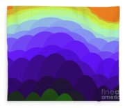Sunset Over Water Fleece Blanket
