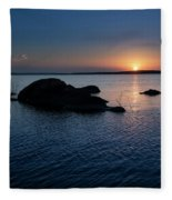Sunset Over Wilson Lake Fleece Blanket