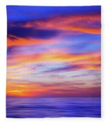 Sunset Palette Fleece Blanket