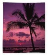 Sunset Palms Fleece Blanket