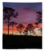Sunset Pines Fleece Blanket