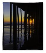 Sunset Pismo Beach Fleece Blanket