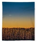 Sunset Plane Fleece Blanket