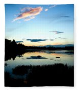 Sunset Pond Fleece Blanket