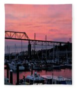 Sunset Port Fleece Blanket