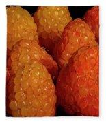 Sunset Raspberries Fleece Blanket
