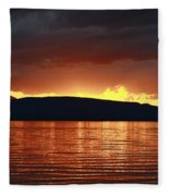 Sunset Red Fleece Blanket
