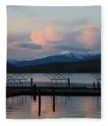 Sunset Reflecting Off Priest Lake Fleece Blanket